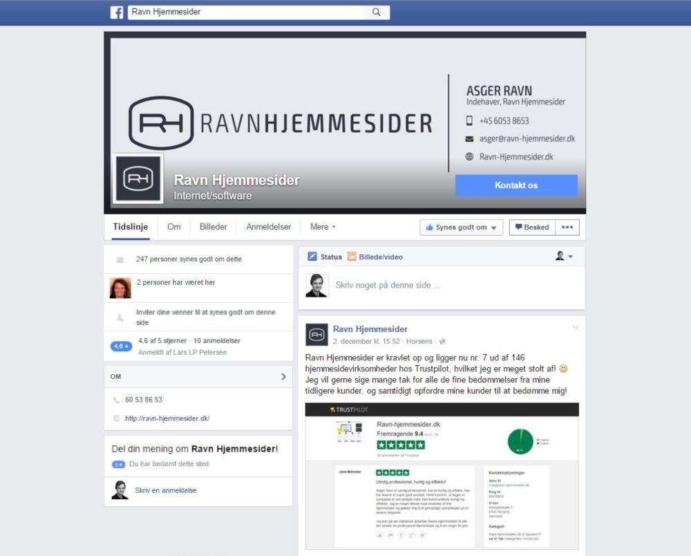 Billig Facebook-side Ravn Hjemmesider