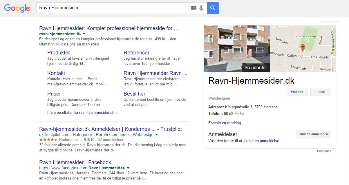 Billig Google + Ravn Hjemmesider