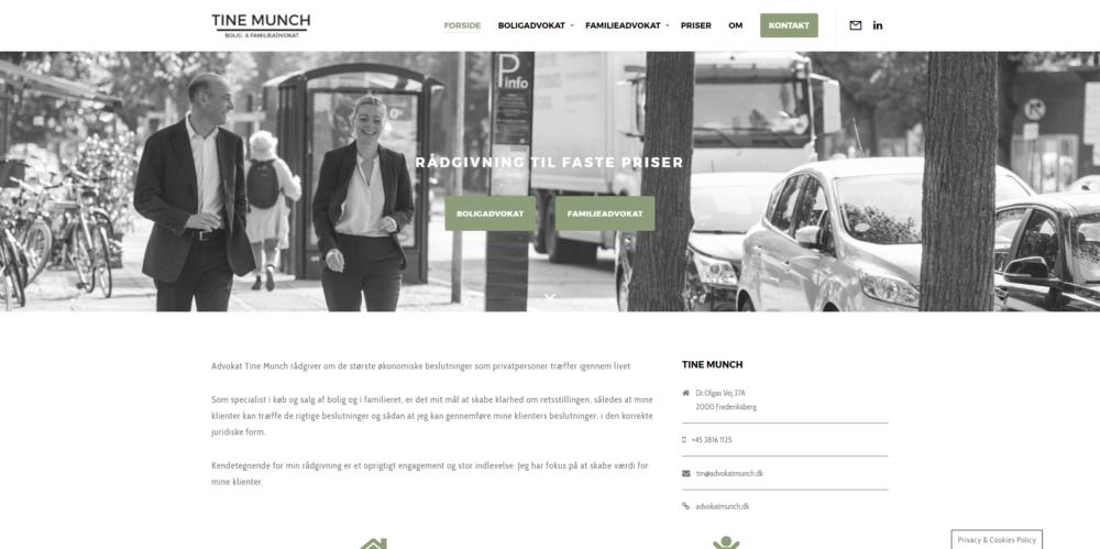 Advokat Tine Munch Ravn Hjemmesider